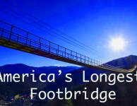Gatlinburg sky bridge is America's longest footbridge.