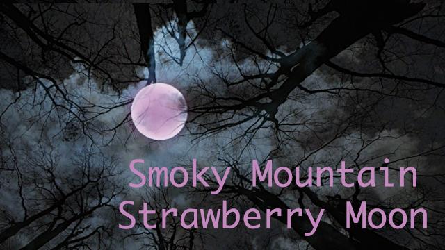 Smoky Mountain Strawberry Moon, when and where to view it! on HeySmokies.com.