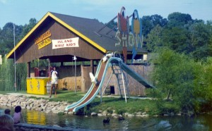 Porpoise Island duck slide in Pigeon Forge, TN.