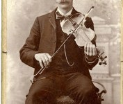 Dan Lawson and his fiddle. Photo credit - GSMNP
