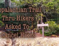 Appalachian Trail thru hikers asked to cancel hikes to avoid Corona Virus risks.