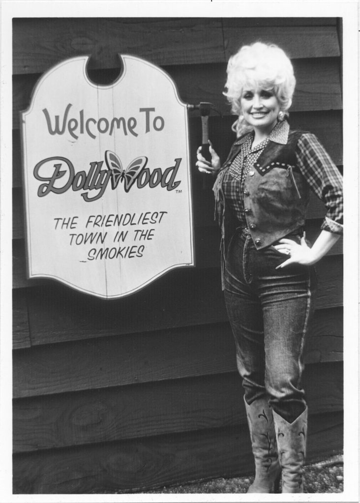 Dolly opens the friendliest town in the Smokies.