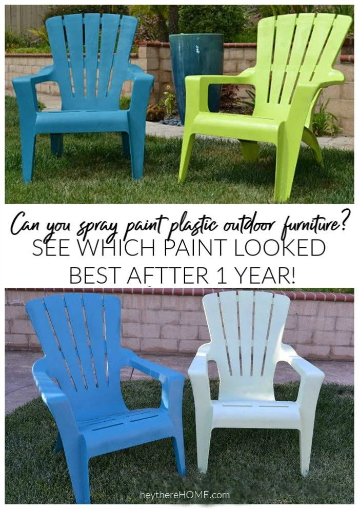 spray painted plastic outdoor chairs