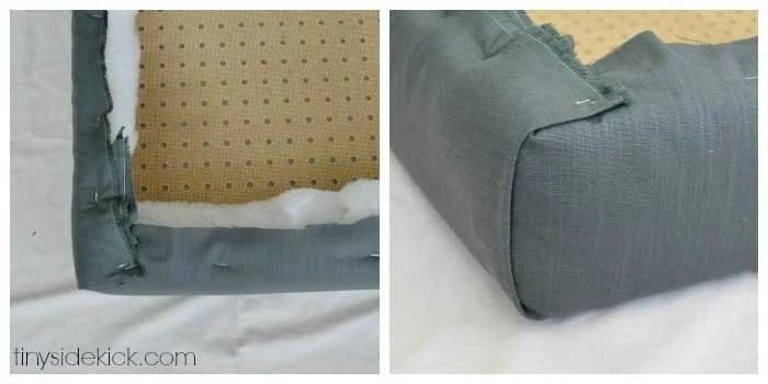 DIY Upholstered Headboard with a High End Look  upholstered headboard