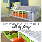Diy Platform Bed With Storage Perfect For Any Kid S Room