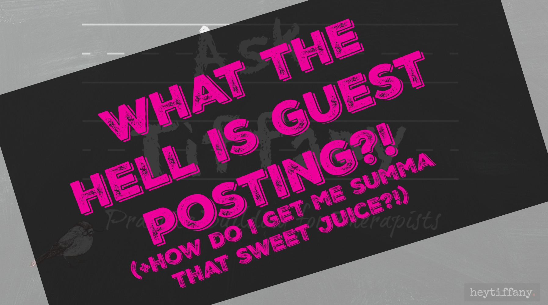 Ask Tiffany: What the Hell is Guest Posting w/Sana Choudary! – www