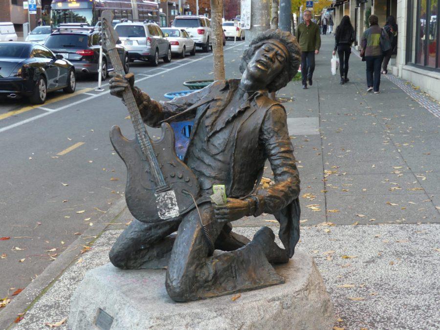 Jimi Hendrix Statue Seattle WA