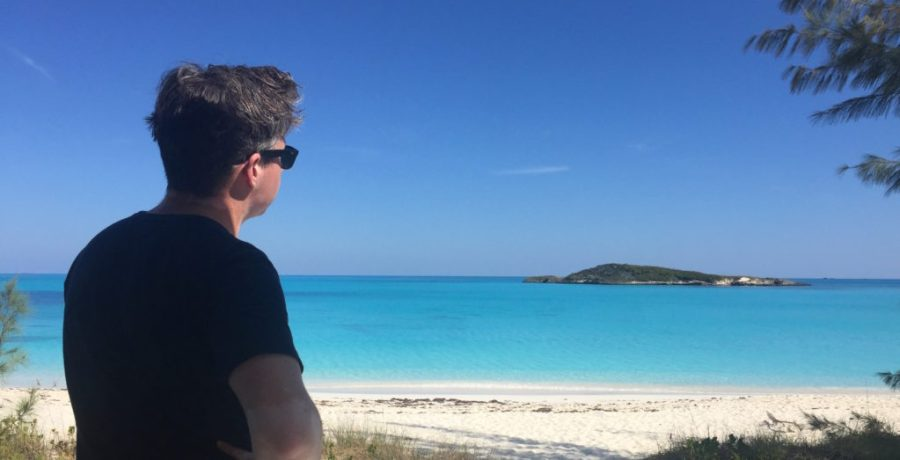 View from the entrance ramp to tropic of cancer beach exuma