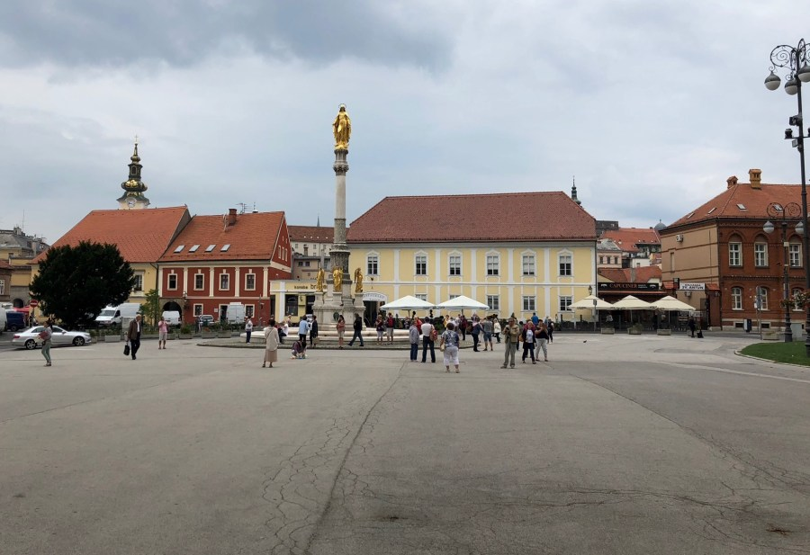 Square in front of Zagreb Cathedral, Croatia