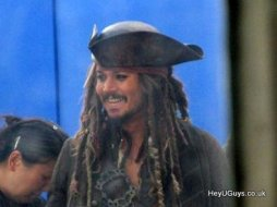 Pirates of the Caribbean 4 Set Photo - Johnny Depp