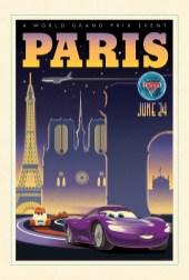 Cars 2 Vintage Poster Art - Paris