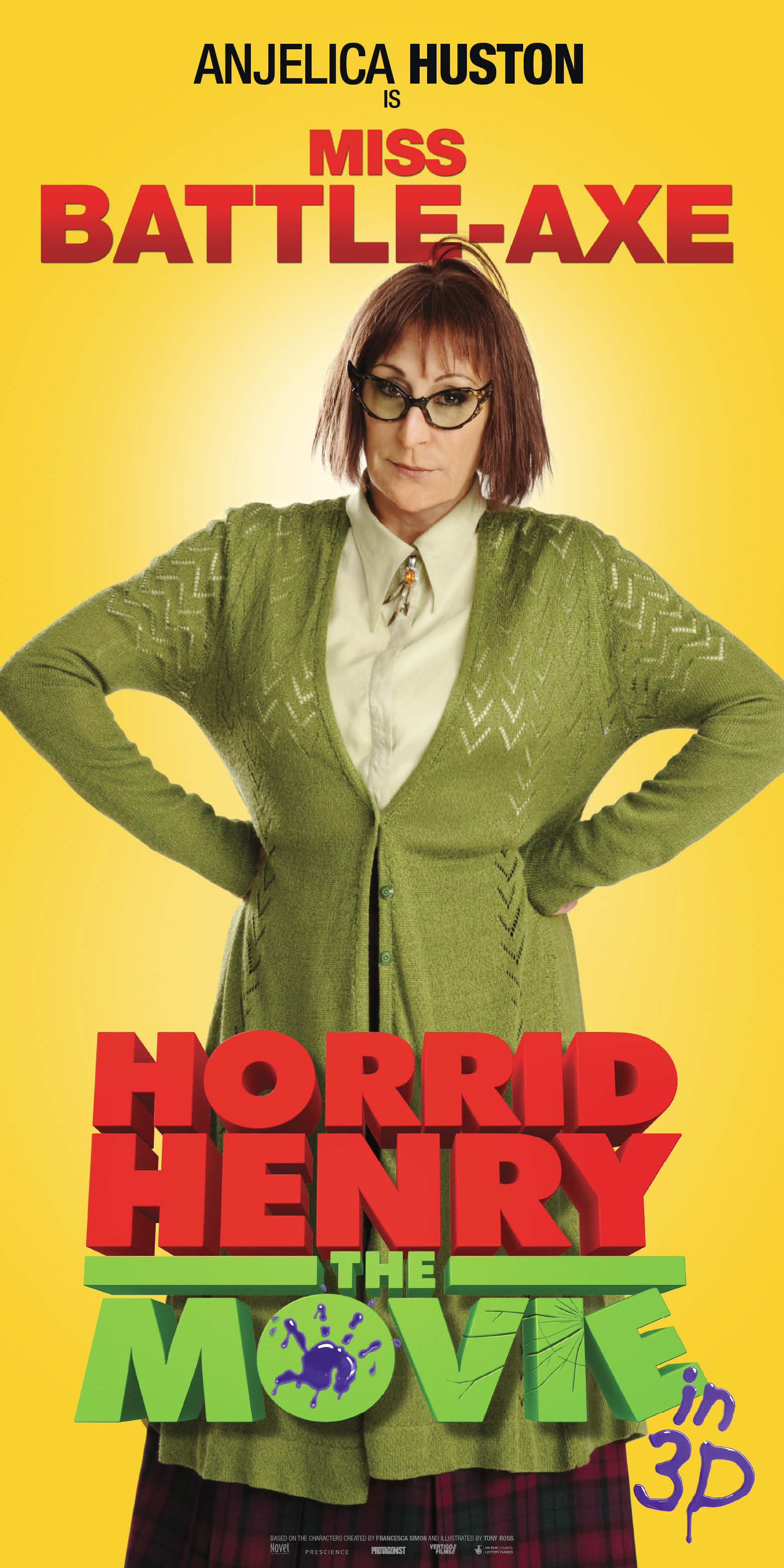 9 New Character Banners Released For Horrid Henry The Movie 3D