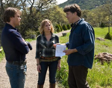 Matt Damon, Scarlett Johansson and Cameron Crowe on the Set of We Bought a Zoo