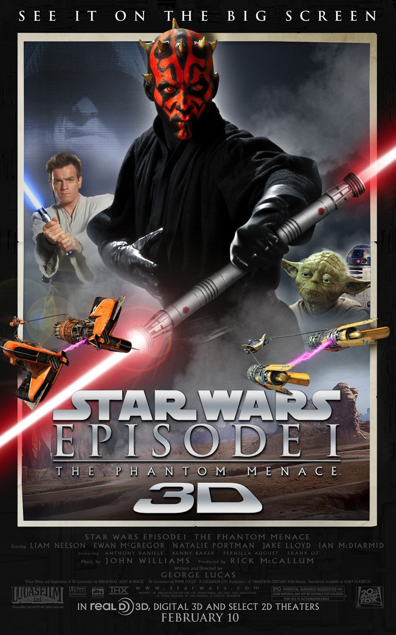 Star Wars Episode 1 The Phantom Menace 3D Poster