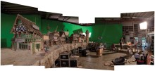 Blood Island on the set of THE PIRATES! BAND OF MISFITS.