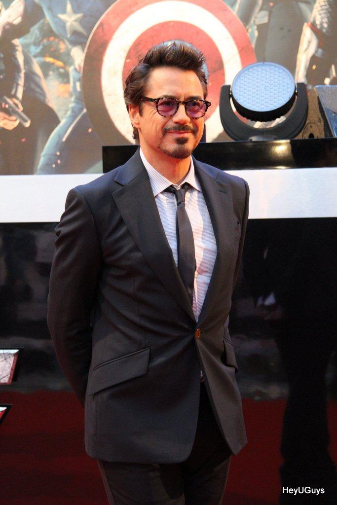 The Avengers European Premiere - Robert Downey Jr. (Iron Man)
