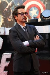 The Avengers European Premiere - Robert Downey Jr. (Iron Man)