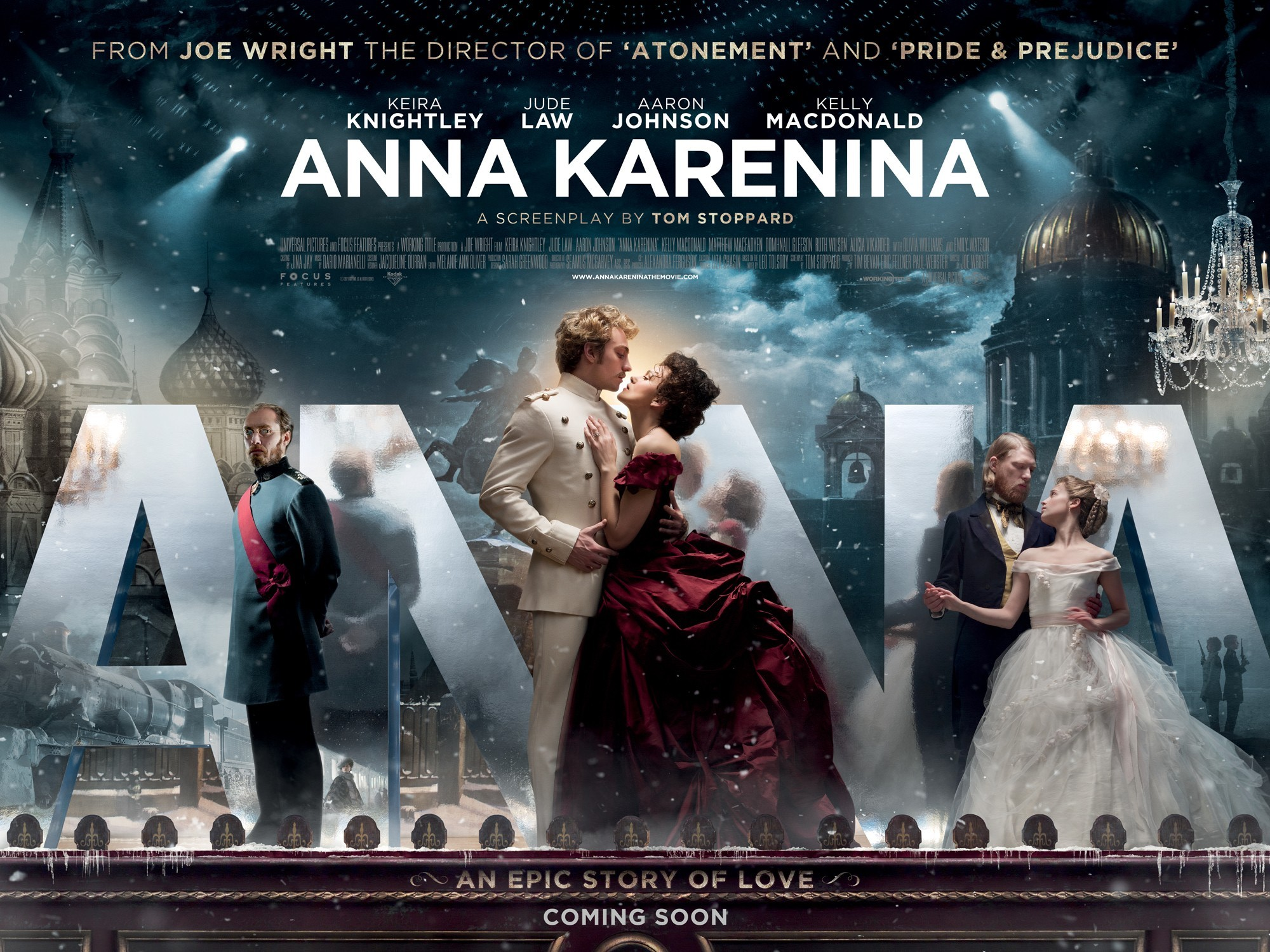 Beautiful Second Poster for Anna Karenina with Keira Knightley