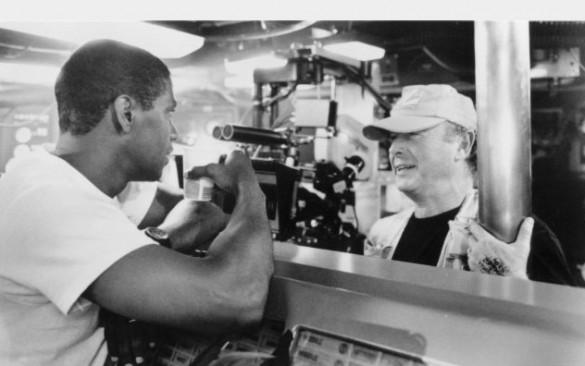 Denzel Washington and Tony Scott on the set of Crimson Tide
