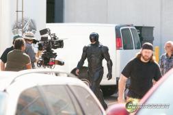 Joel Kinnaman on set of RoboCop