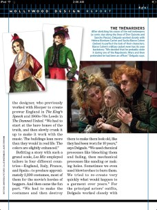 Helena Bonham Carter, Isabelle Allen and Sacha Baron Cohen in Les Misérables scan
