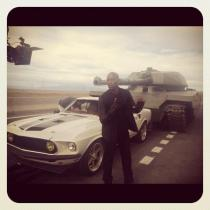 Tyrese Gibson on set of Fast and Furious 6