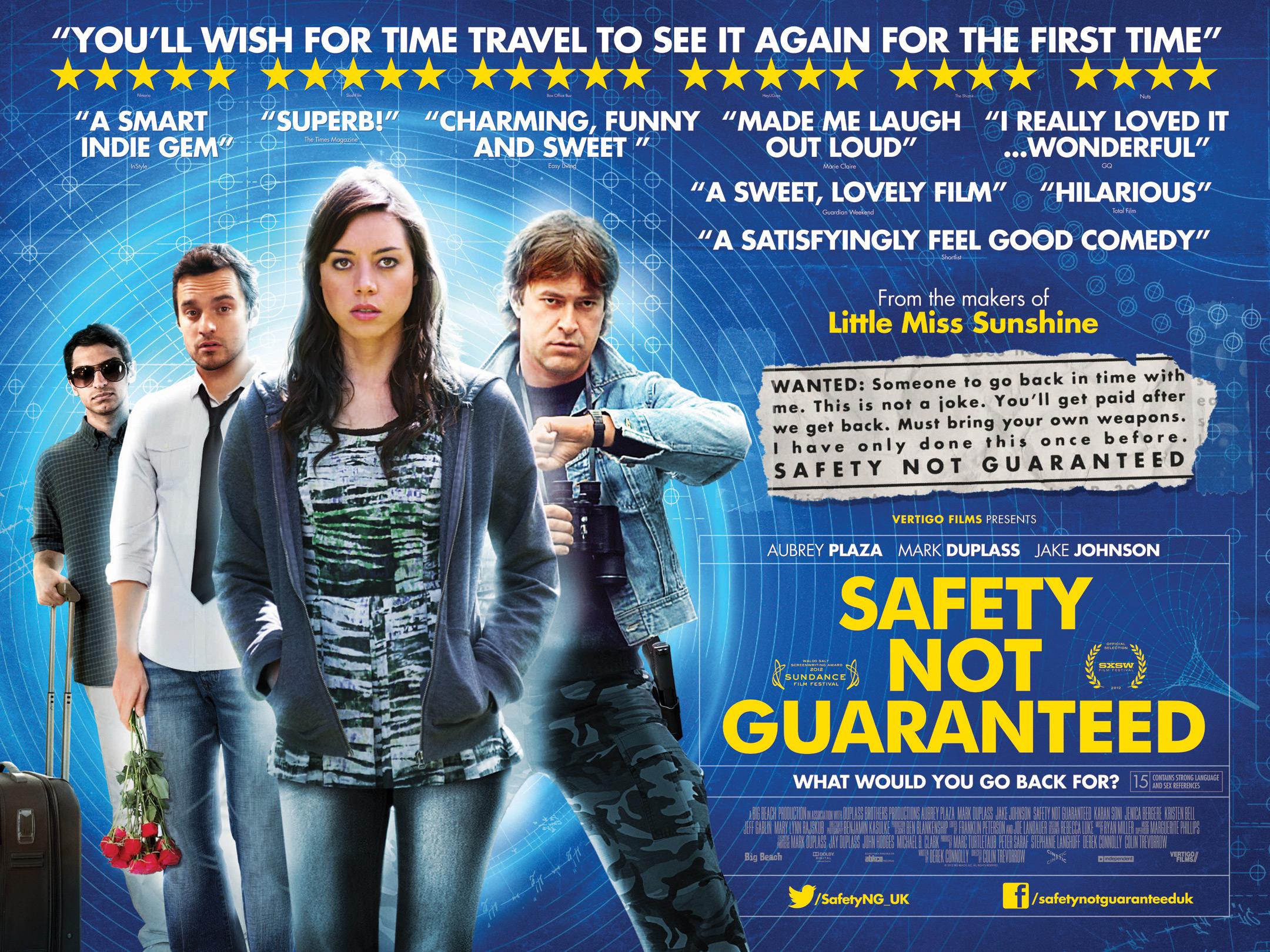 safety not guaranteed uk poster