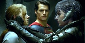 Amy Adams, Henry Cavill and Antje Traue in Man of Steel