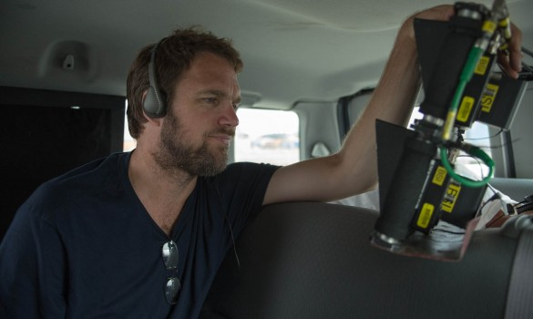 Director Brad Anderson on the set of TriStar Pictures thriller THE CALL.