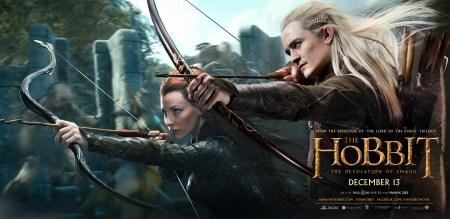 The Hobbit 2 banner met Tauriel & Legolas