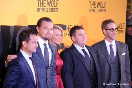 Leonardo Di Caprio, Margot Robbie and Jonah Hill at The Wolf of Wall Street Premiere