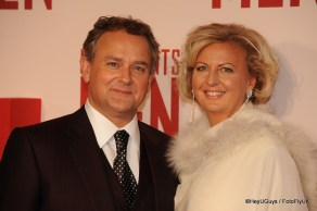 Hugh Bonneville at the Premiere for The Monuments Men in London