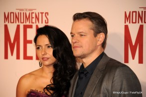 Matt Damon at the Premiere for The Monuments Men in London
