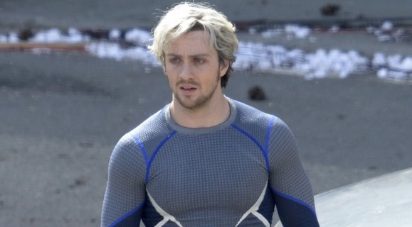 Aaron Taylor-Johnson on set of 'The Avengers: Age of ...