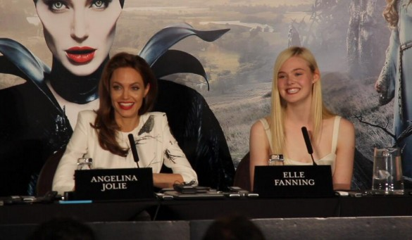 Angelina Jolie Elle Fanning Maleficent Press Conference