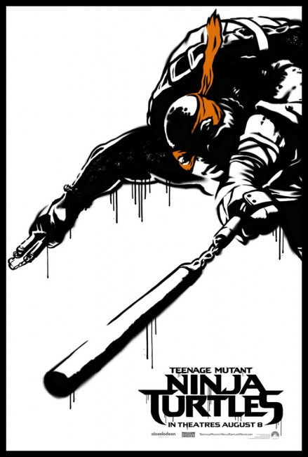 Teenage-Mutant-Ninja-Turtle-Street-Poster-Michaelangelo