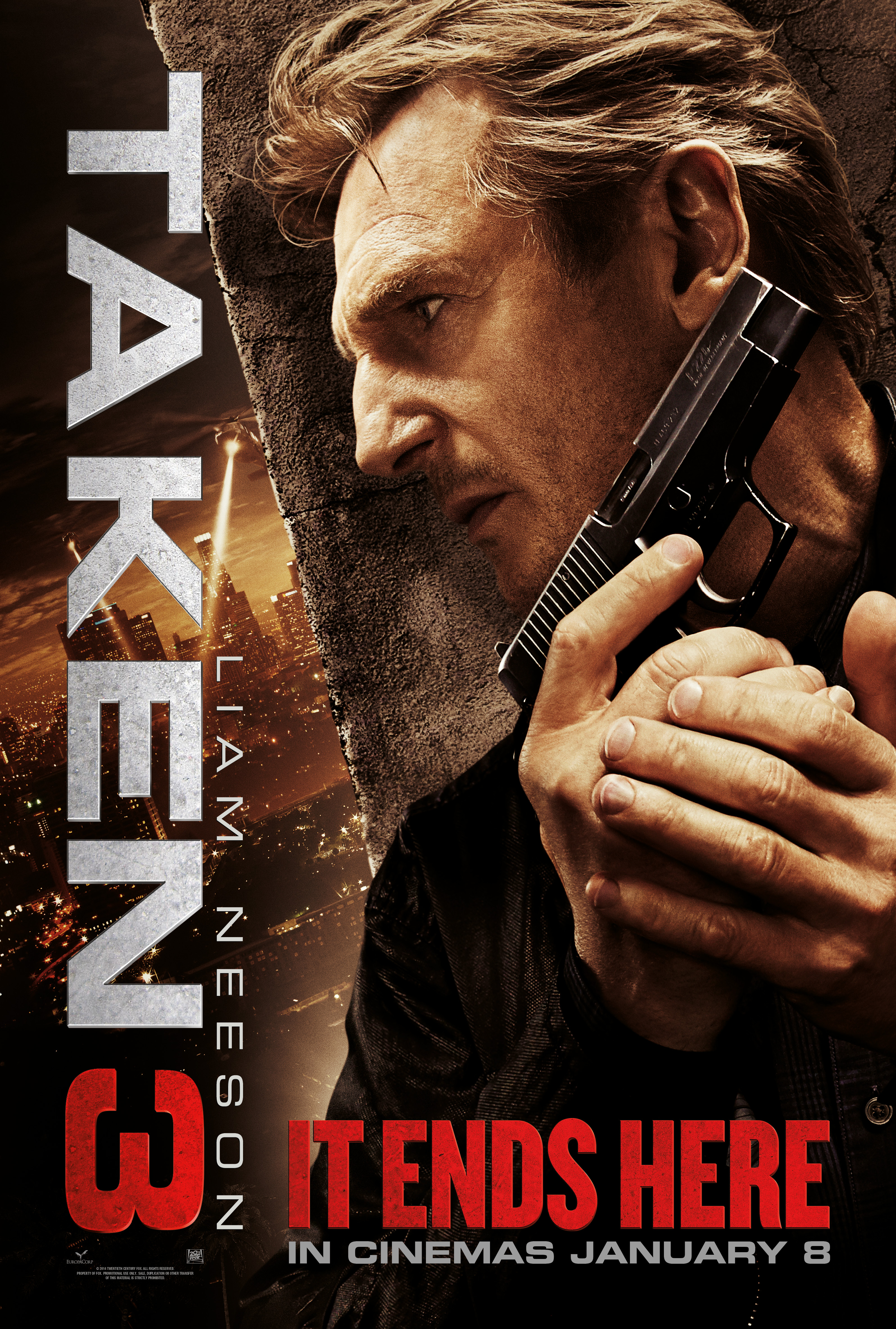 New Poster and First Clip from Taken 3 Starring Liam Neeson