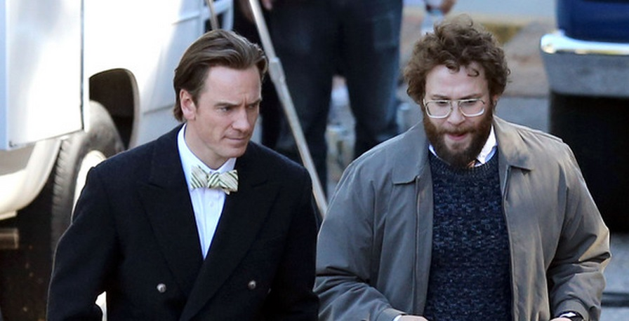 20b68d8fd51 First Look at Michael Fassbender and Seth Rogen in Danny Boyle's Steve Jobs
