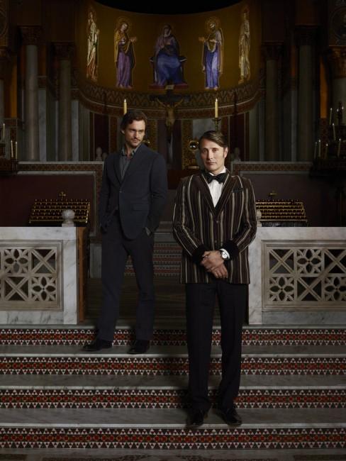 HANNIBAL -- Season: 3 -- Pictured: (l-r) Hugh Dancy as Will Graham, Mads Mikkelsen as Hannibal Lecter -- (Photo by: Elisabeth Caren/NBC)
