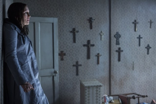 """VERA FARMIGA as Lorraine Warren in New Line Cinema's supernatural thriller """"THE CONJURING 2,"""" a Warner Bros. Pictures release. Photo by Matt Kennedy"""