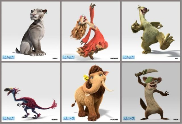 Ice Age Collision Course characters