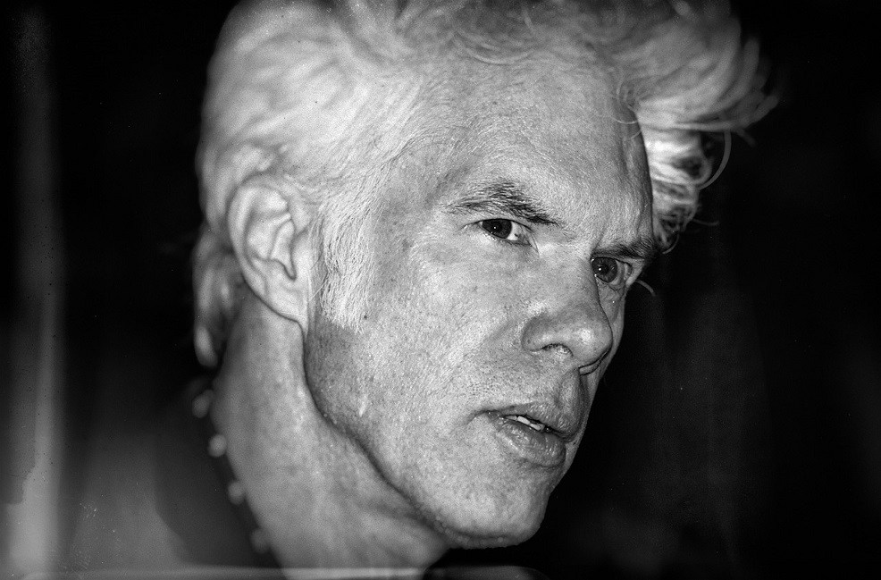a picture of director jim jarmusch looking pensive