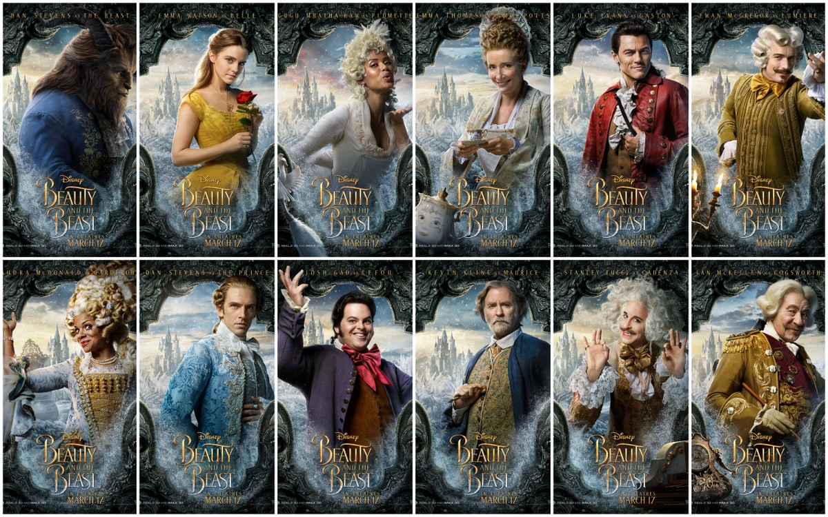 Motion Posters For Disney 39 S Live Action Version Of Beauty