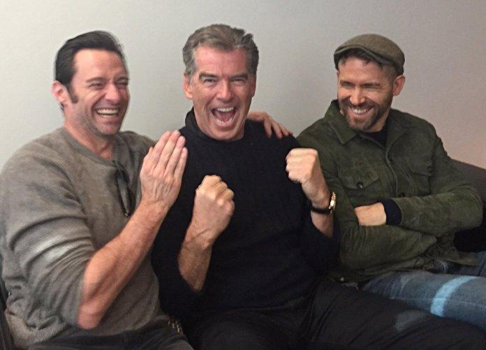 Hugh Jackman, Pierce Brosnan & Ryan Reynolds - Deadpool 2