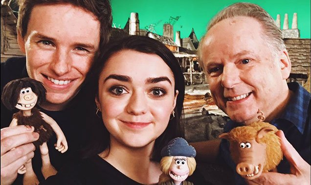 Eddie Redmayne and Maisie Williams in Early Man