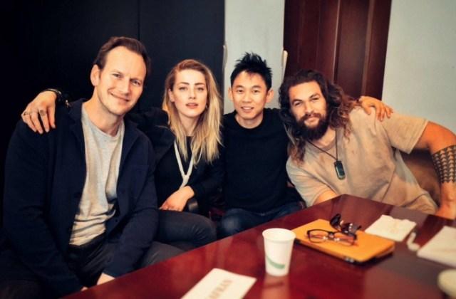 James Wan, Jason Momoa, Amber Heard, Patrick Wilson - Aquaman