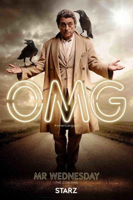 American Gods Character Poster - Mr Wednesday Ian McShane