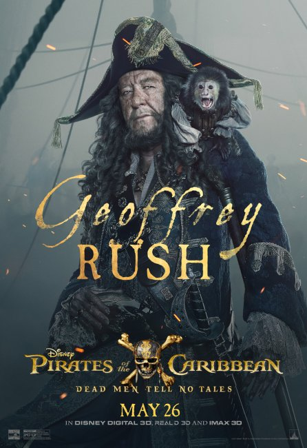 Pirates of the Caribbean 5 Character Poster