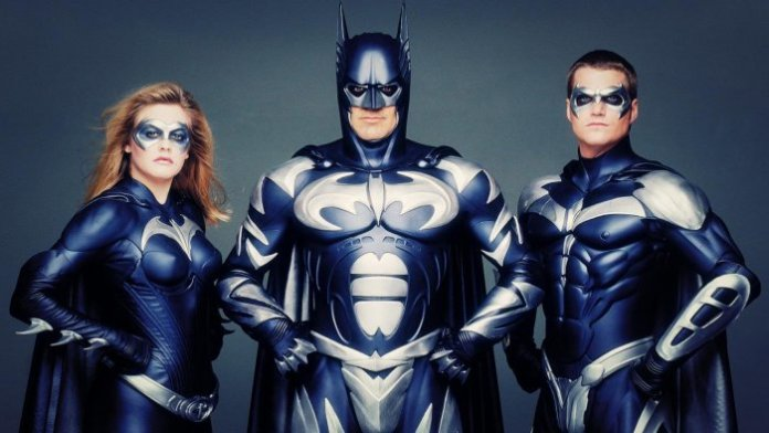 Batman & Robin - George Clooney, Chris O' Donnell and Alicia Silverstone