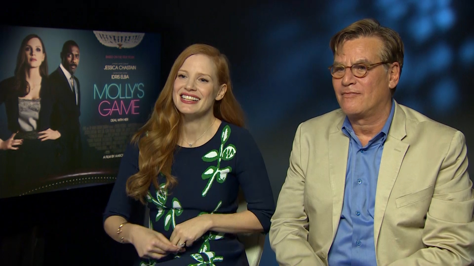 Jessica Chastain Aaron Sorkin Molly's Game Interview